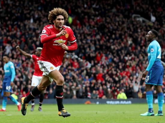 Manchester United 2 - 1 Arsenal: Fellaini denies Wenger on his final visit to Old Trafford as Arsenal boss