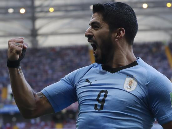 Tabarez hails 'crucial' Suarez after Uruguay beat Saudi Arabia to advance
