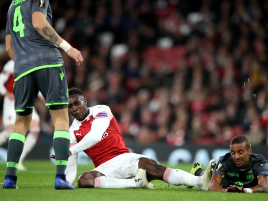 Arsenal 0 - 0 Sporting Clube de Portugal: Danny Welbeck injury takes shine off Arsenal's Europa League progress