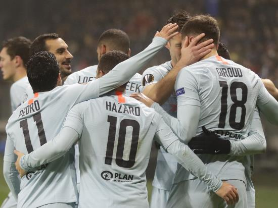 BATE Borisov 0 - 1 Chelsea FC: Olivier Giroud sends Chelsea into Europa League knockout stages