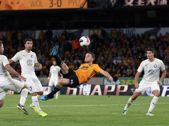 Wolves 4 - 0 FC Pyunik: Diogo Jota stunner puts finishing touch on 8-0 aggregate win for Wolves