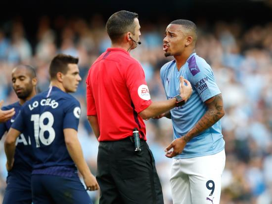 Manchester City denied late winner by VAR as Spurs steal a point