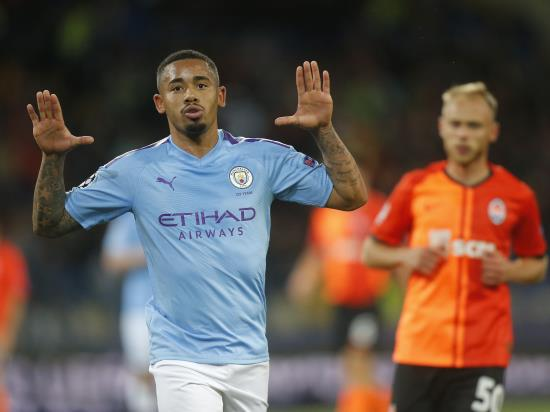 Gabriel Jesus on target as Manchester City cruise at Shakhtar Donetsk