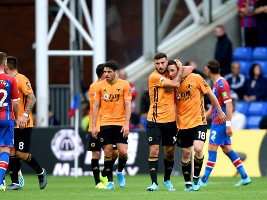 Jota strikes late to earn Wolves a point at Palace