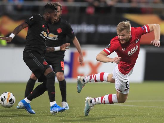 Manchester United's woes on the road continue as they draw with AZ Alkmaar