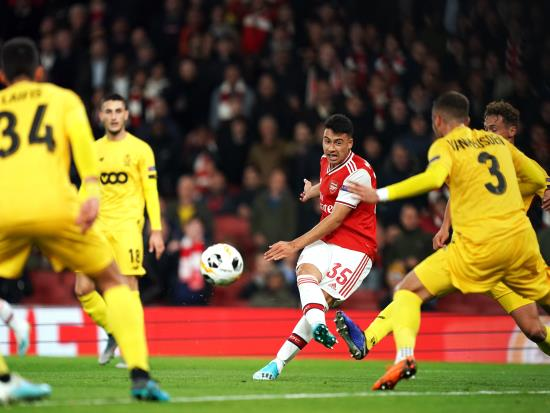 Gabriel Martinelli impresses as Arsenal's youngsters hammer Standard Liege