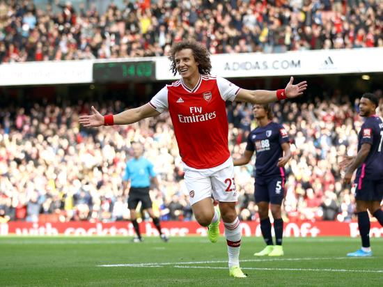 Luiz gives Arsenal victory over Bournemouth