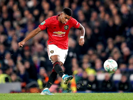 Superb Marcus Rashford free-kick sends Manchester United through