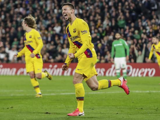 Clement Lenglet scores the winner as Barcelona come from behind to beat Betis
