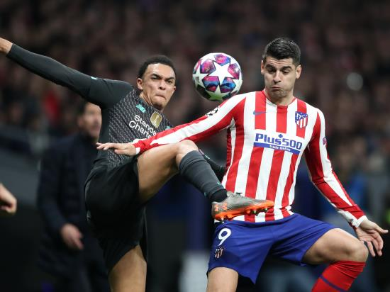 Champions League holders Liverpool suffer first-leg loss at Atletico Madrid