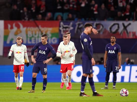 Sorry Spurs bow out of Champions League with a whimper