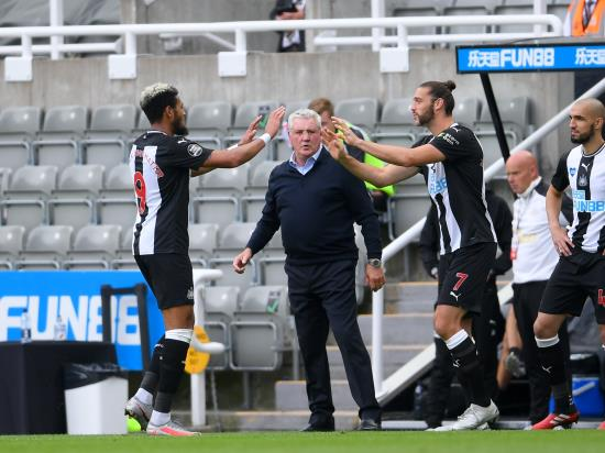 Steve Bruce delighted to have Joel in Toon as Brazilian scores overdue goal