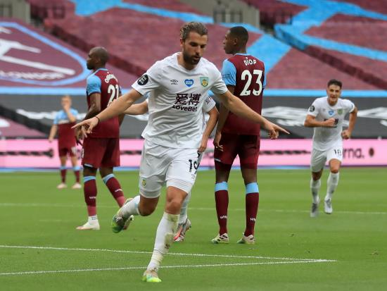 Jay Rodriguez nets winner as Burnley beat relegation-battling West Ham