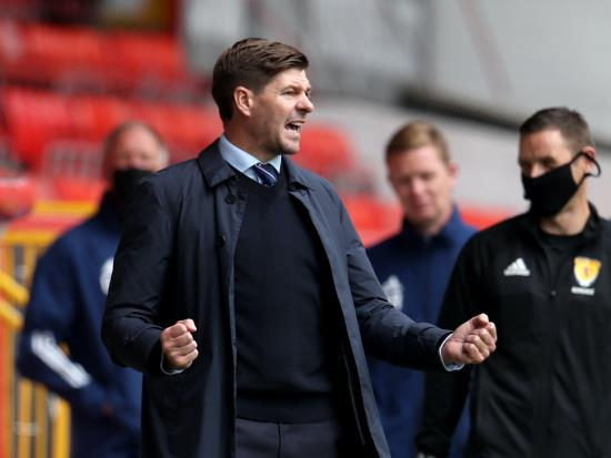 Steven Gerrard happy to answer title race questions with opening win at Aberdeen
