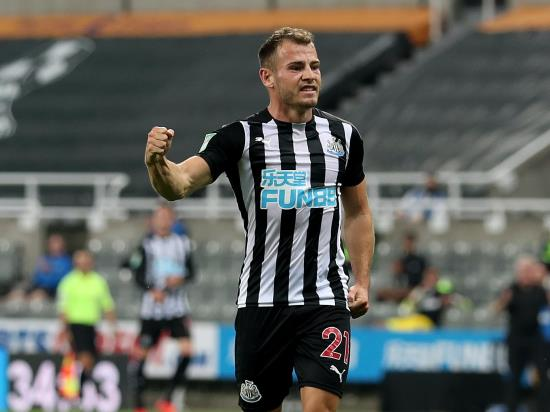 Debutant Ryan Fraser nets winner as Newcastle edge Blackburn in Carabao Cup