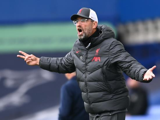 Jurgen Klopp angered by disallowed goal in Liverpool derby draw with Everton