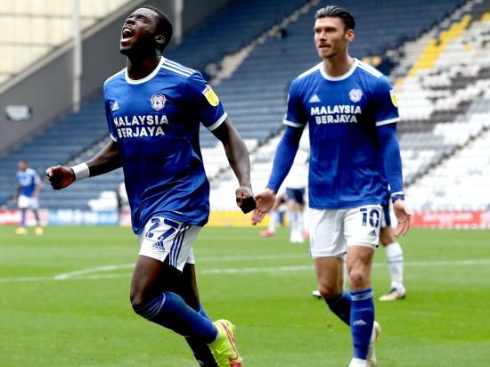 Sheyi Ojo's first Cardiff goal earns victory at Preston