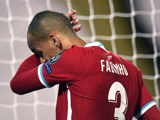 Liverpool without Fabinho for West Ham's trip to Anfield