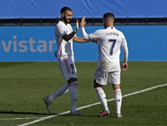 Real Madrid 4 - 1 SD Huesca: Karim Benzema and Eden Hazard on target as Real Madrid rise to LaLiga summit