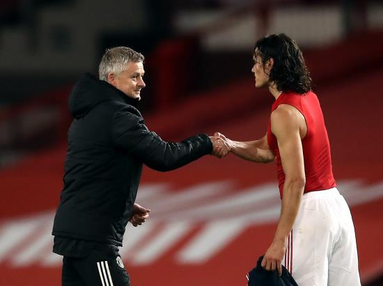 Ole Gunnar Solskjaer praises 'top-class' Edinson Cavani after United beat Saints