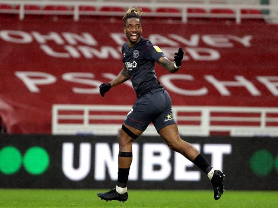 Ivan Toney bags a brace as Brentford extend run with win at Middlesbrough