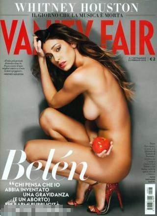 Marco Borriello's ex-girlfriend Belen Rodriguez takes photos for magazine