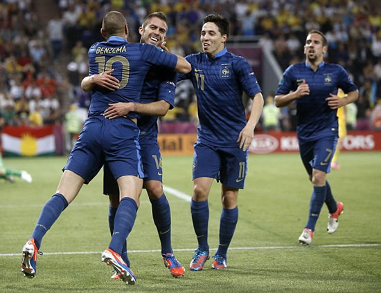 Ukraine 0 France 2: Les Bleus strike twice after lightning and thunderstorms halt clash