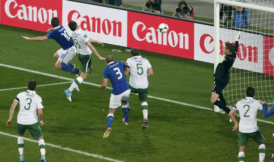 Italy 2 : 0 Republic of Ireland