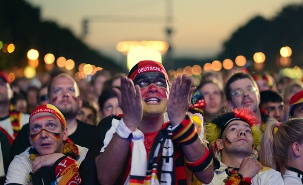 Germany fans celebrated wildly