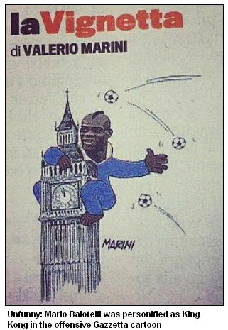 Balotelli fury at King Kong cartoon slur in Italian newspaper