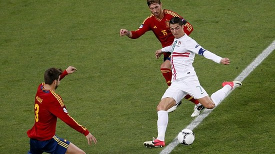 Portugal 0 Spain 0 (aet, 2-4 on pens): Oh no Ronaldo! Cristiano stranded as Cesc seals it
