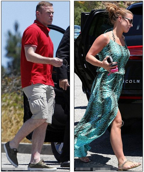 Distracting themselves from the football! Wayne and Coleen Rooney enjoy tour of LA sights during Euro 2012 semi final match
