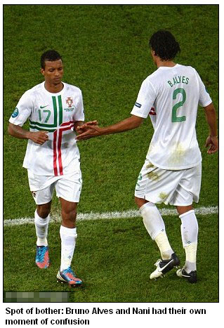 You wanted the glory! Nani hits out at Ronaldo over penalty shootout defeat