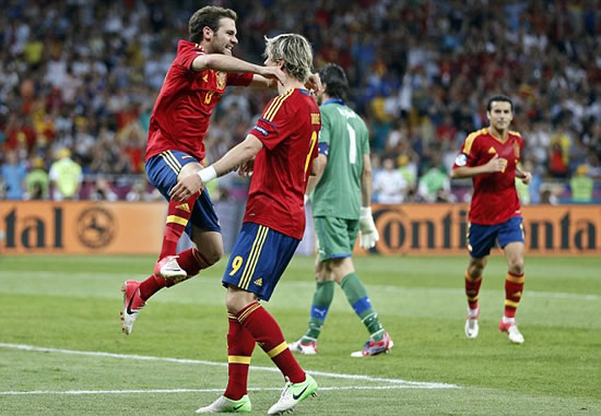 Spain 4 Italy 0: Silva, Alba, Torres and Mata the heroes as La Roja create history in Kiev