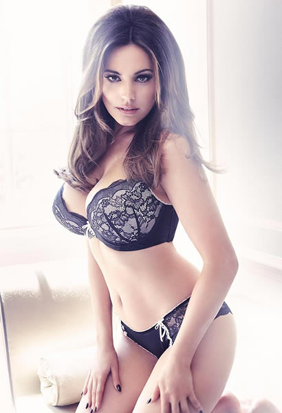 Busty brunette in lingerie