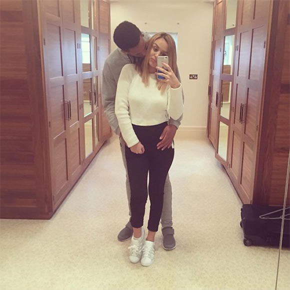 Manchester United S Anthony Martial Talks Debut Goal Vs: Anthony Martial Poses For Romantic Snap With Wife