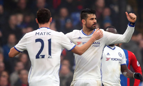 Crystal Palace 0 - 1 Chelsea FC: Diego Costa on target again as Chelsea secure 11th successive league win