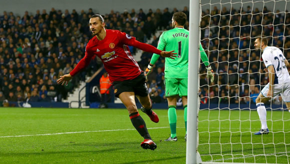 West Bromwich(WBA) 0 - 2 Manchester United: Zlatan Ibrahimovic double sees Manchester United beat West Brom
