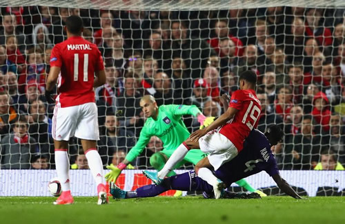 Manchester United  1 - 1 Anderlecht: Man Utd reach Europa League semi-finals after extra-time defeat of Anderlecht