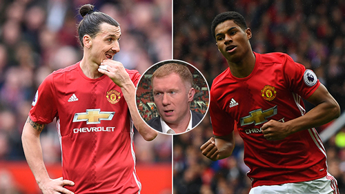 Paul Scholes makes crazy claim about Zlatan Ibrahimovic and Marcus Rashford