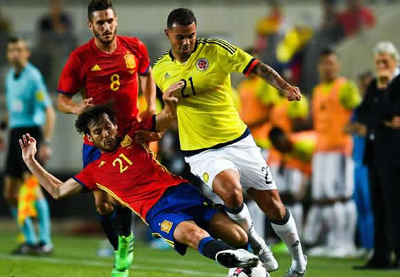 Spain 2 - 2 Colombia: Morata rescues draw after Falcao's record-breaking goal