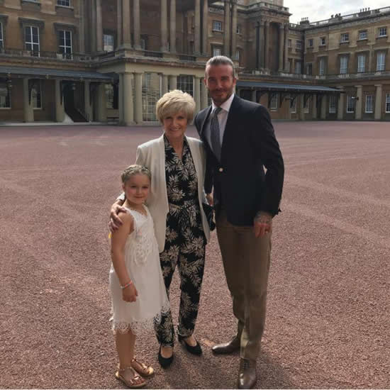 BECKINGHAM PALACE David Beckham finally gets his day at Buckingham Palace as daughter Harper celebrates sixth birthday — while Fergie sparks fury by hosting bash behind Queen's back
