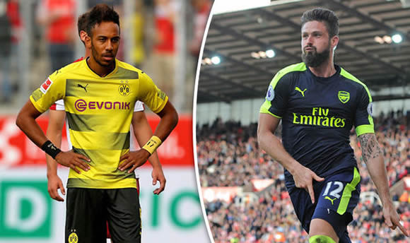 Aubameyang set to join Chelsea as Dortmund prepare move for Arsenal star Giroud - report