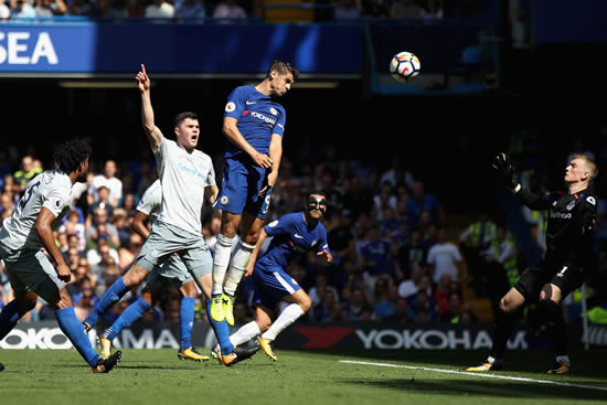 Chelsea FC 2 - 0 Everton: Cesc Fabregas and Alvaro Morata score in Chelsea's home victory over Everton