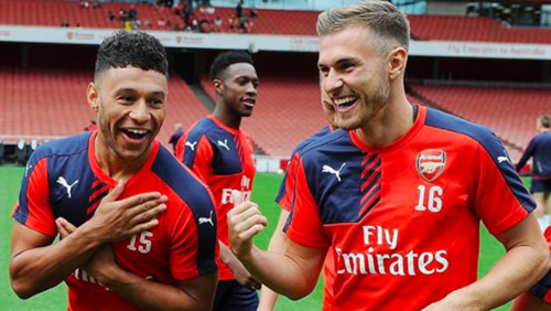 Aaron Ramsey Uses '#Shambles' In Farewell Message To Alex Oxlade-Chamberlain