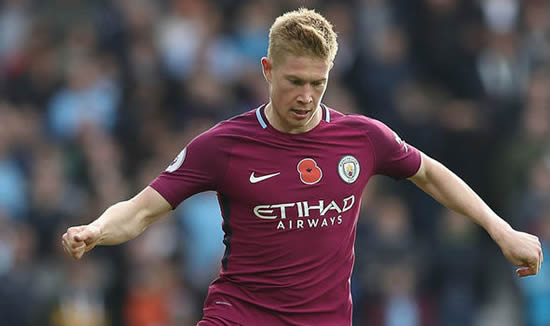 Kevin De Bruyne claims Man City players can score with their EYES CLOSED