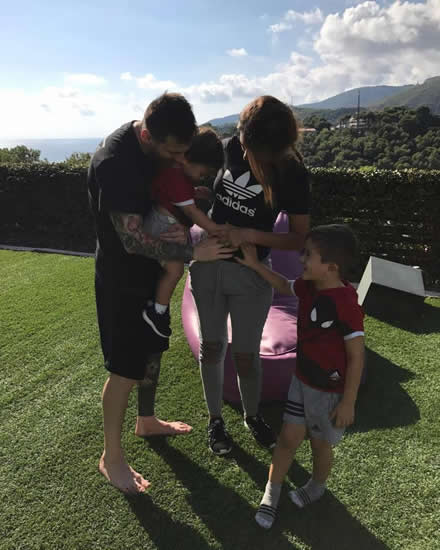 Lionel Messi's wife Antonella Roccuzzo reveals that their third child will be another BOY