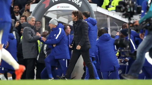 Man United's Jose Mourinho: I cannot chase Antonio Conte for handshake