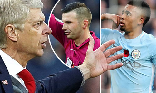 Arsenal manager Arsene Wenger BLASTS referee in stinging attack after Man City defeat