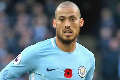 Liverpool turn to Man City star David Silva as Emre Can replacement